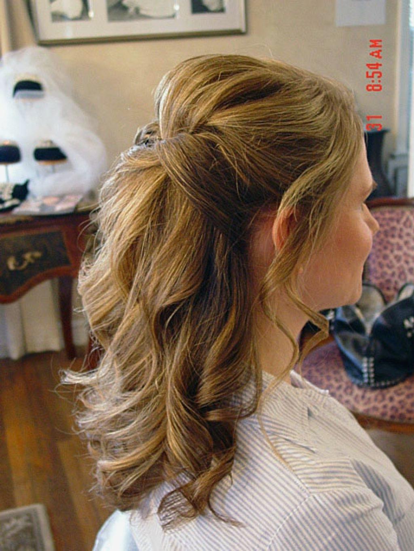 Wedding Hairstyles : New Wedding Hairstyles Medium Length Hair Half Pertaining To Recent Medium Length Hair Half Up Wedding Hairstyles (View 10 of 15)