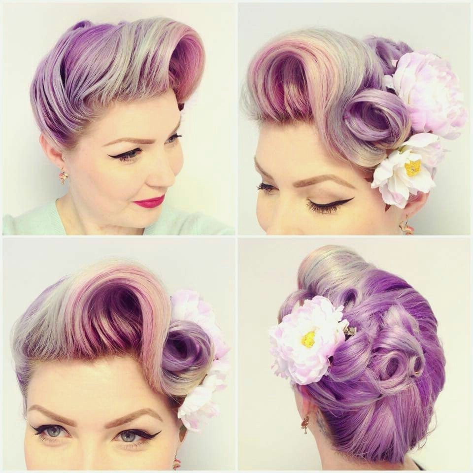 Wedding Hairstyles : Pin Up Wedding Hairstyles Pics On Hairstyles Regarding Most Up To Date Pin Up Wedding Hairstyles (View 7 of 15)