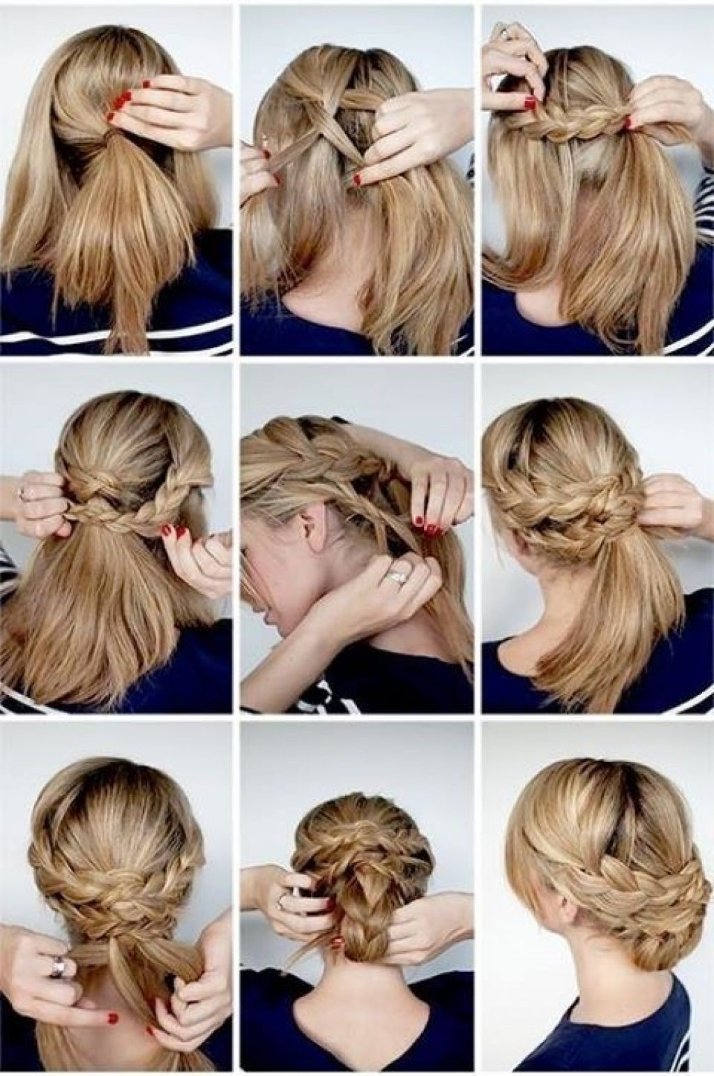 Wedding Hairstyles Tutorial Great Elegant Braided Updo Ideas – Girly Regarding Newest Wedding Updos For Long Hair With Braids (View 15 of 15)