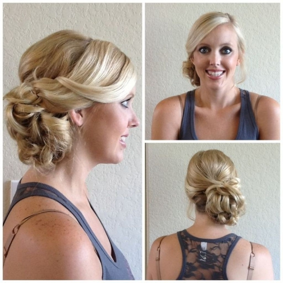 Wedding Hairstyles Wedding Hair Side Bun With Veil Nice Hair For Within Fashionable Wedding Hairstyles To The Side (View 13 of 15)