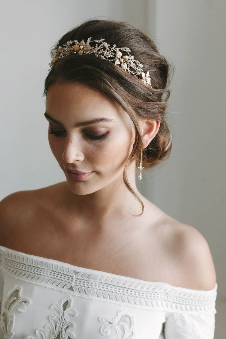 Wedding Hairstyles With Crown (View 2 of 15)