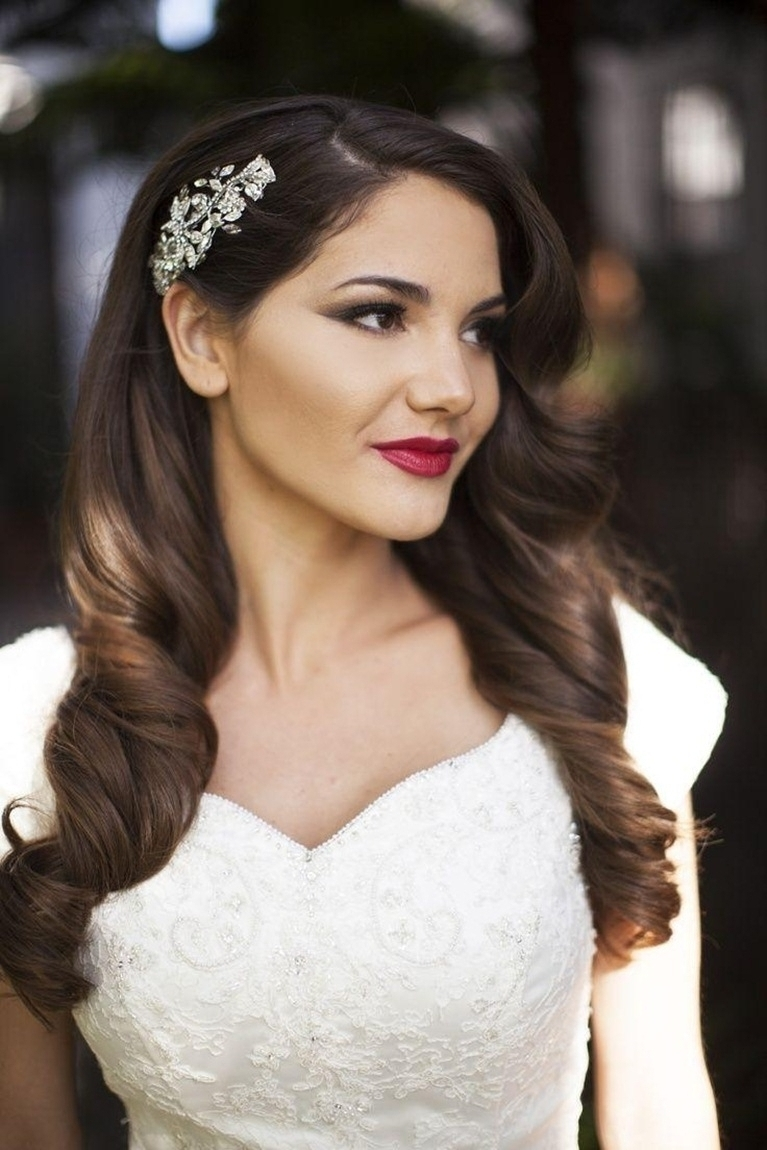 Wedding Hairstyles With Long Veil – Hairstyle Picture Magz Regarding 2017 Wedding Hairstyles Down With Veil (View 13 of 15)