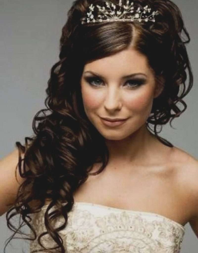 Wedding Hairstyles With Tiara For Medium Length Hair Best Of Wedding Pertaining To Most Recently Released Wedding Hairstyles For Shoulder Length Hair With Tiara (View 4 of 15)