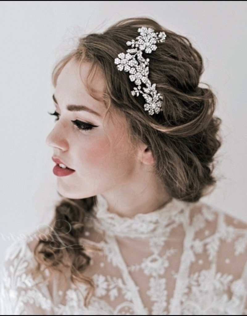 Featured Photo of Wedding Hairstyles For Medium Length Hair With Tiara