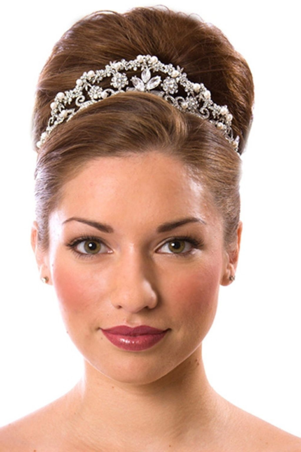 Wedding Hairstyles With Tiara Updo (View 3 of 15)