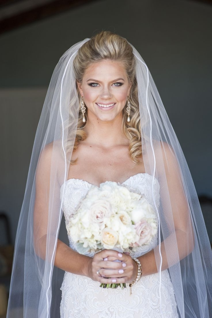 Wedding Hairstyles:half Up Wedding Hairstyles With Veil Features For Throughout Popular Half Up With Veil Wedding Hairstyles (View 14 of 15)