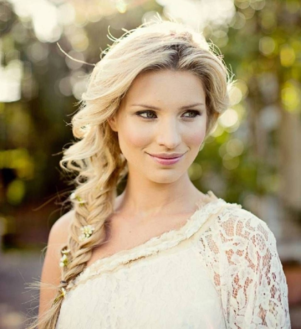 Wedding Intended For Newest Side Braid Wedding Hairstyles (View 3 of 15)