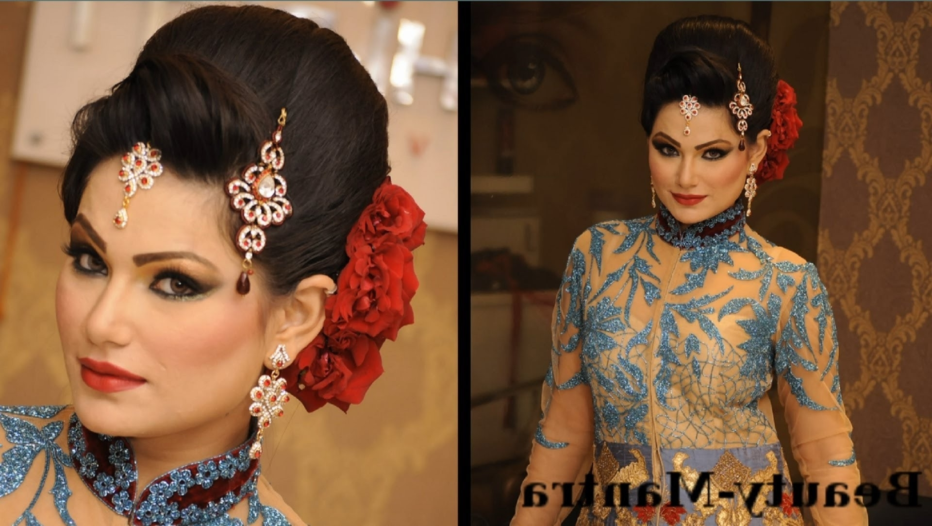 Wedding Makeup – Royal Engagement Look – Complete Hairstyle And Pertaining To Widely Used Wedding Engagement Hairstyles (View 3 of 15)
