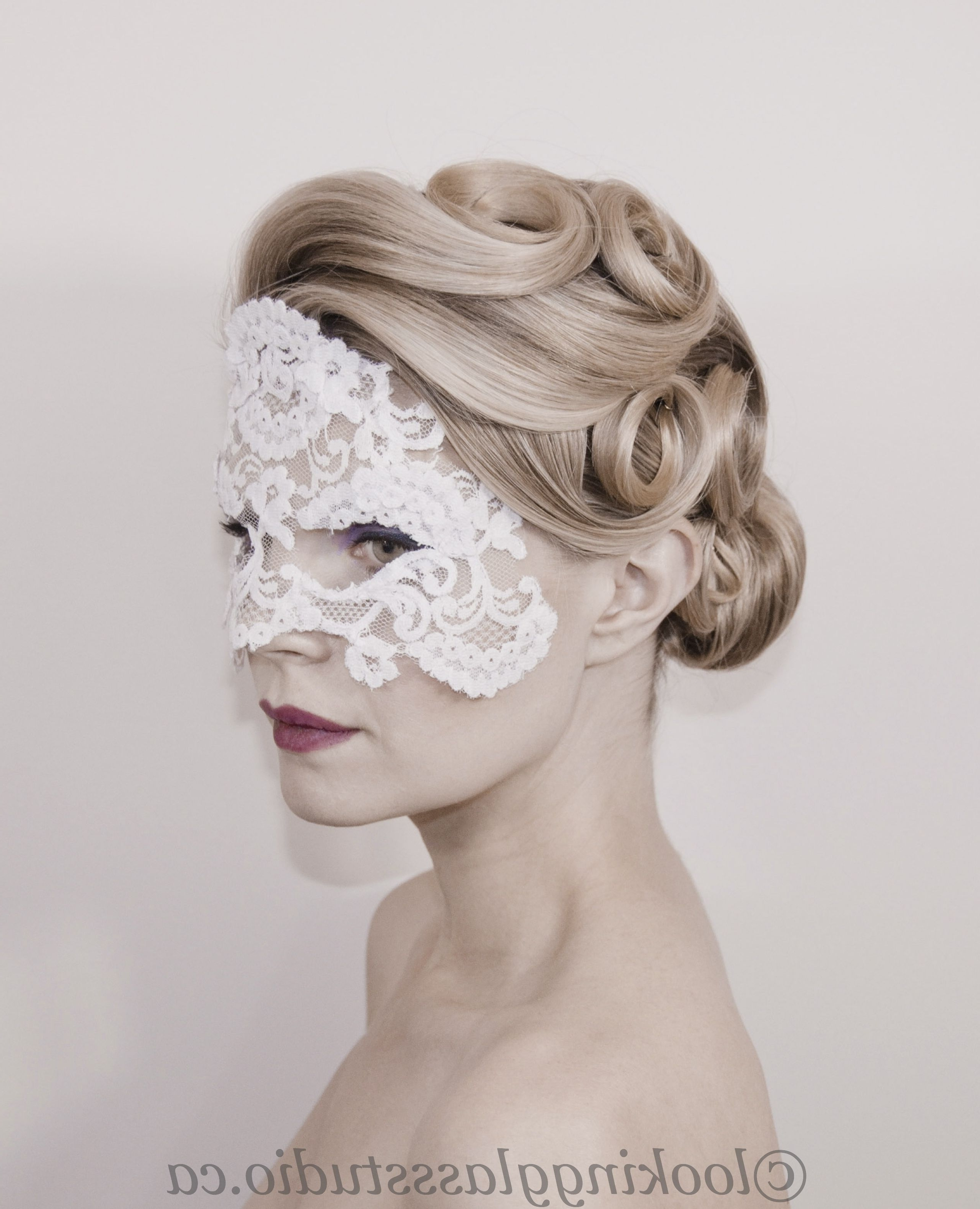 Wedding Updo, Bridal Hair, Pin Curls Www.lookingglassstudio (View 12 of 15)