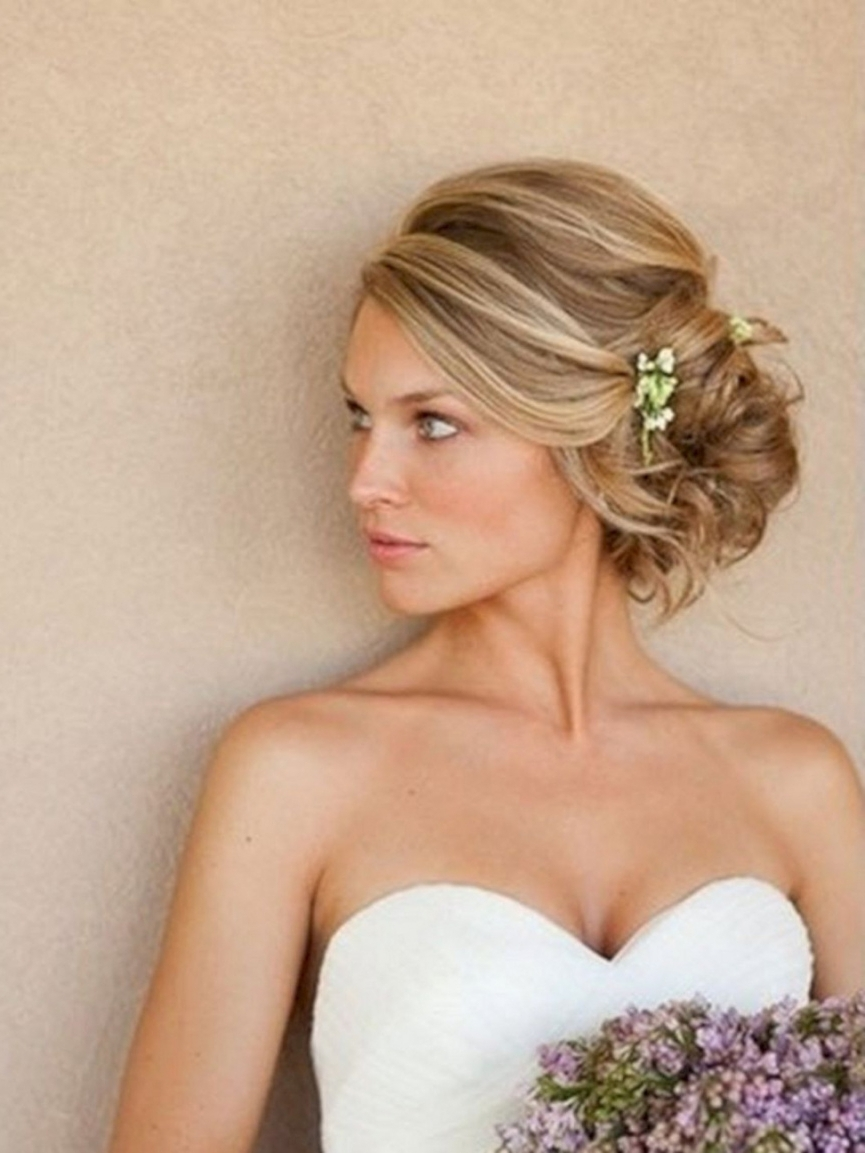 Wedding Updos For Short Regarding Recent Wedding Hairstyles For Short Hair With Bangs (View 14 of 15)