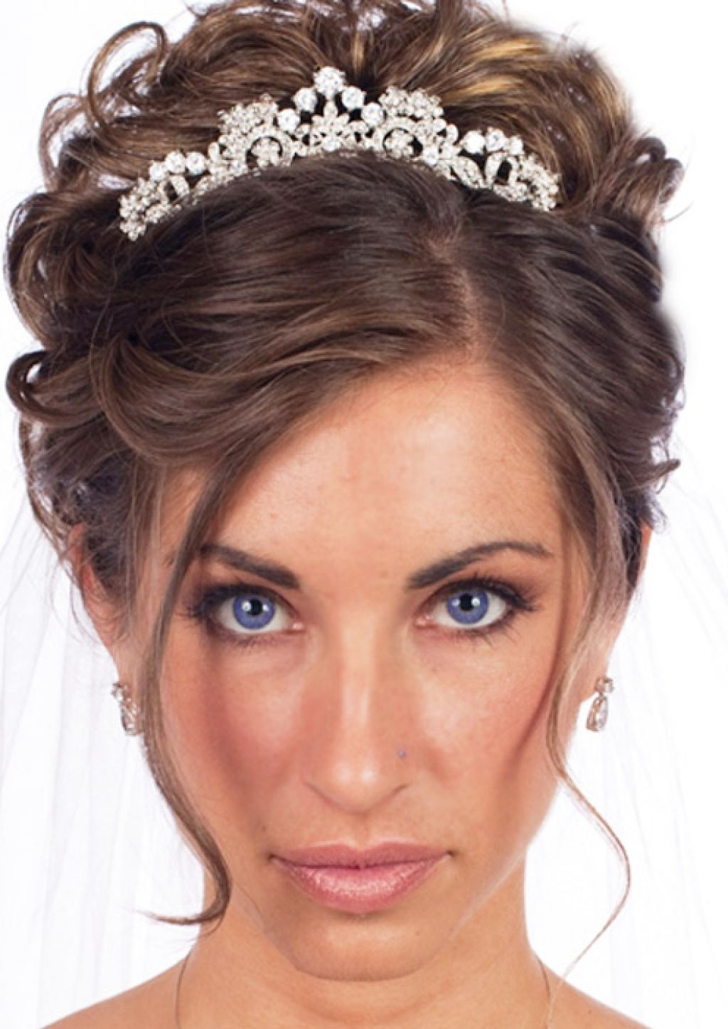 Wedding Updos With Veil Hairstyle – Girly Hairstyle Inspiration Pertaining To Popular Wedding Hairstyles For Short Hair With Veil And Tiara (View 7 of 15)