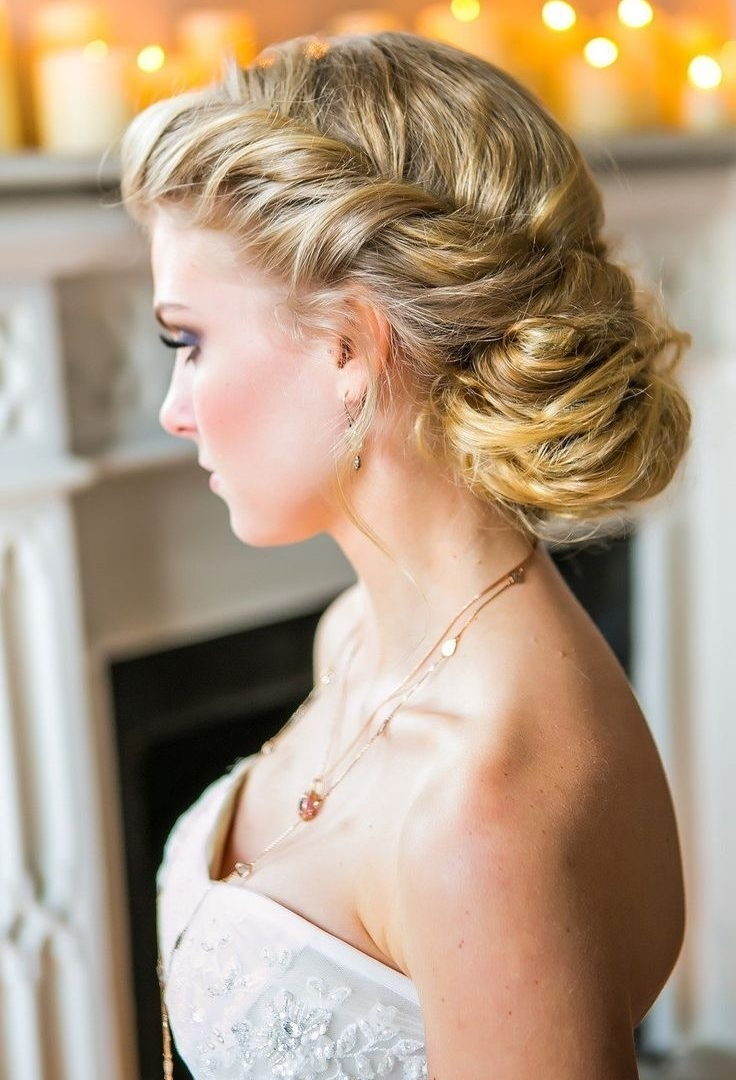 Weddingr Updo Side Bun Curly Bridal Curlsrstyles For Indian Stunning Within Current Side Bun Wedding Hairstyles (View 12 of 15)