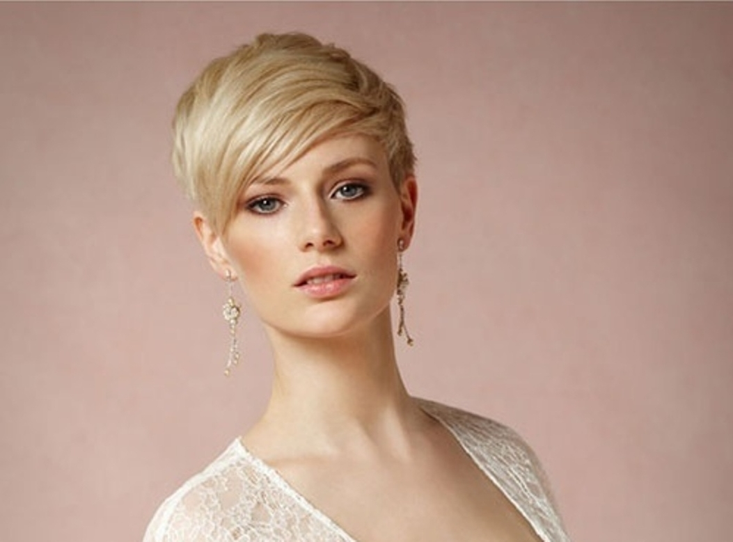 Weddings Eve For Favorite Wedding Hairstyles For Short Hair With Fringe (View 12 of 15)