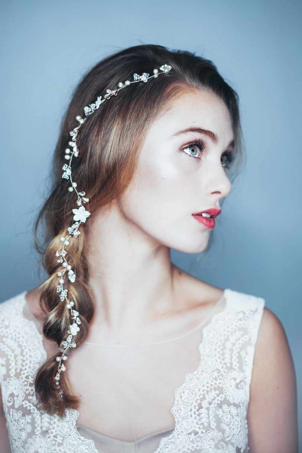 Weddingstyles With Headpiece Updos Headband Pictures Pinterest And In Well Known Wedding Hairstyles With Headband And Veil (View 12 of 15)
