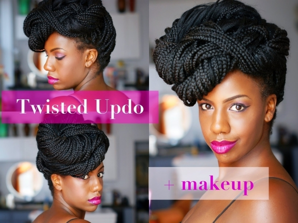 Well Known Box Braids Wedding Hairstyles Pertaining To Box Braid Wedding Styles Box Braid Updo Hairstyles Black Hair Collection (View 13 of 15)