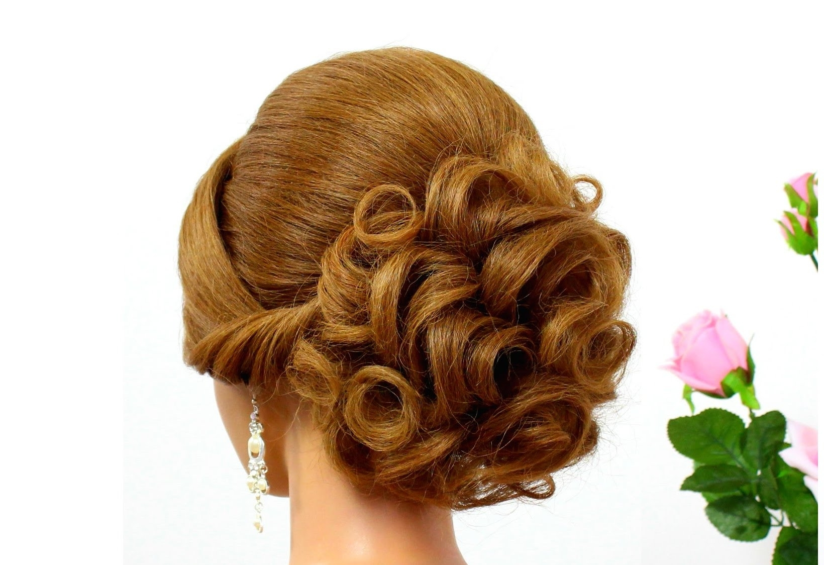 Photo Gallery Of Curly Updos Wedding Hairstyles Viewing 3 Of 15 Photos