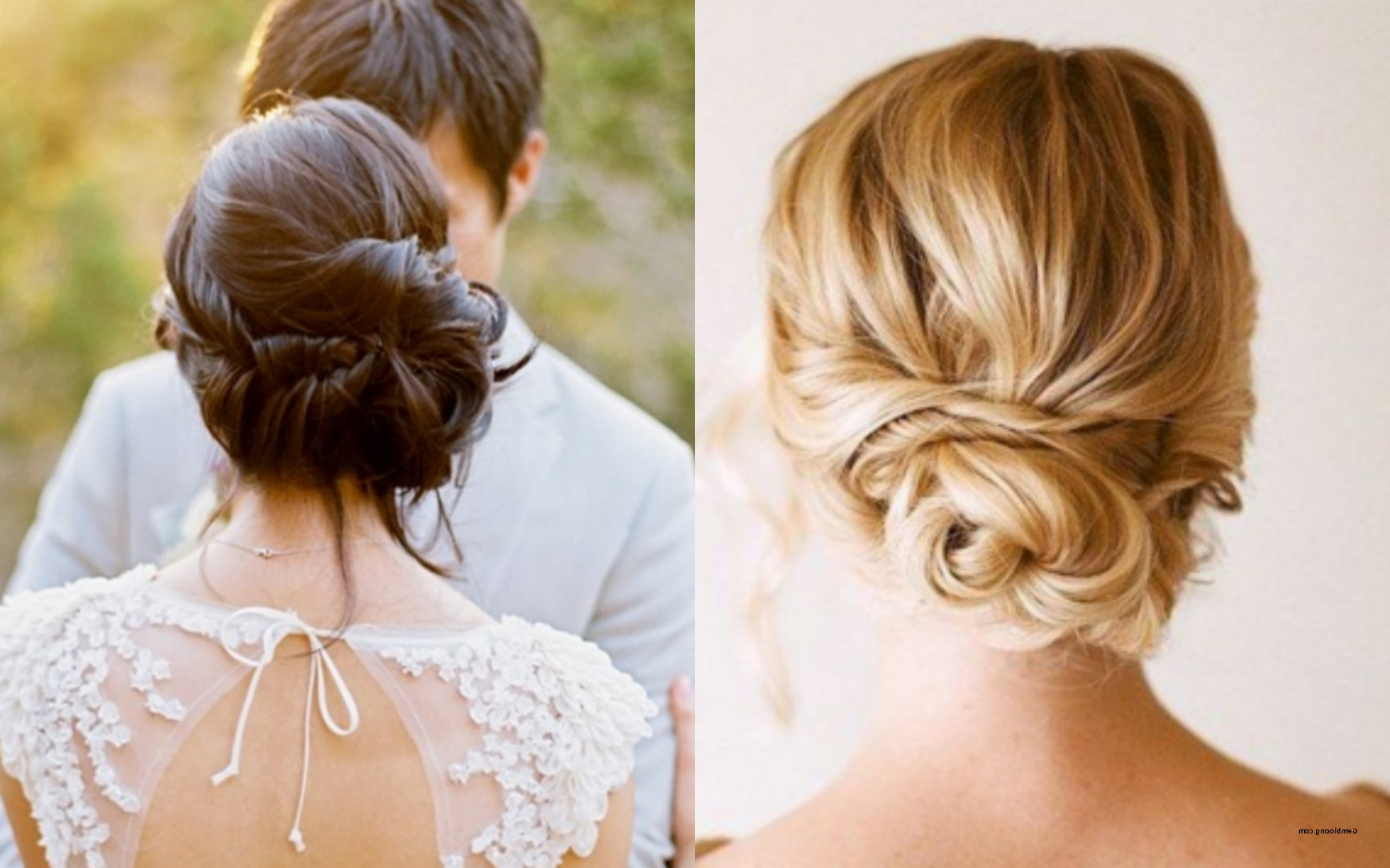 Well Known Low Updo Wedding Hairstyles Within Wedding Updos Low Bun New Low Chignon Wedding Hairstyles (View 7 of 15)