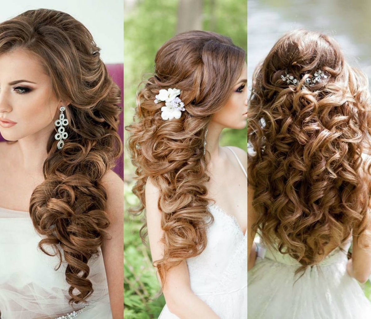 Well Known Modern Wedding Hairstyles For Bridesmaids Pertaining To Bridal Curls Hairstyles (View 12 of 15)