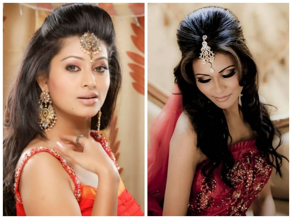 Well Known North Indian Wedding Hairstyles For Long Hair Pertaining To Indian Wedding Hairstyles For Medium Hair – Style Samba (View 6 of 15)