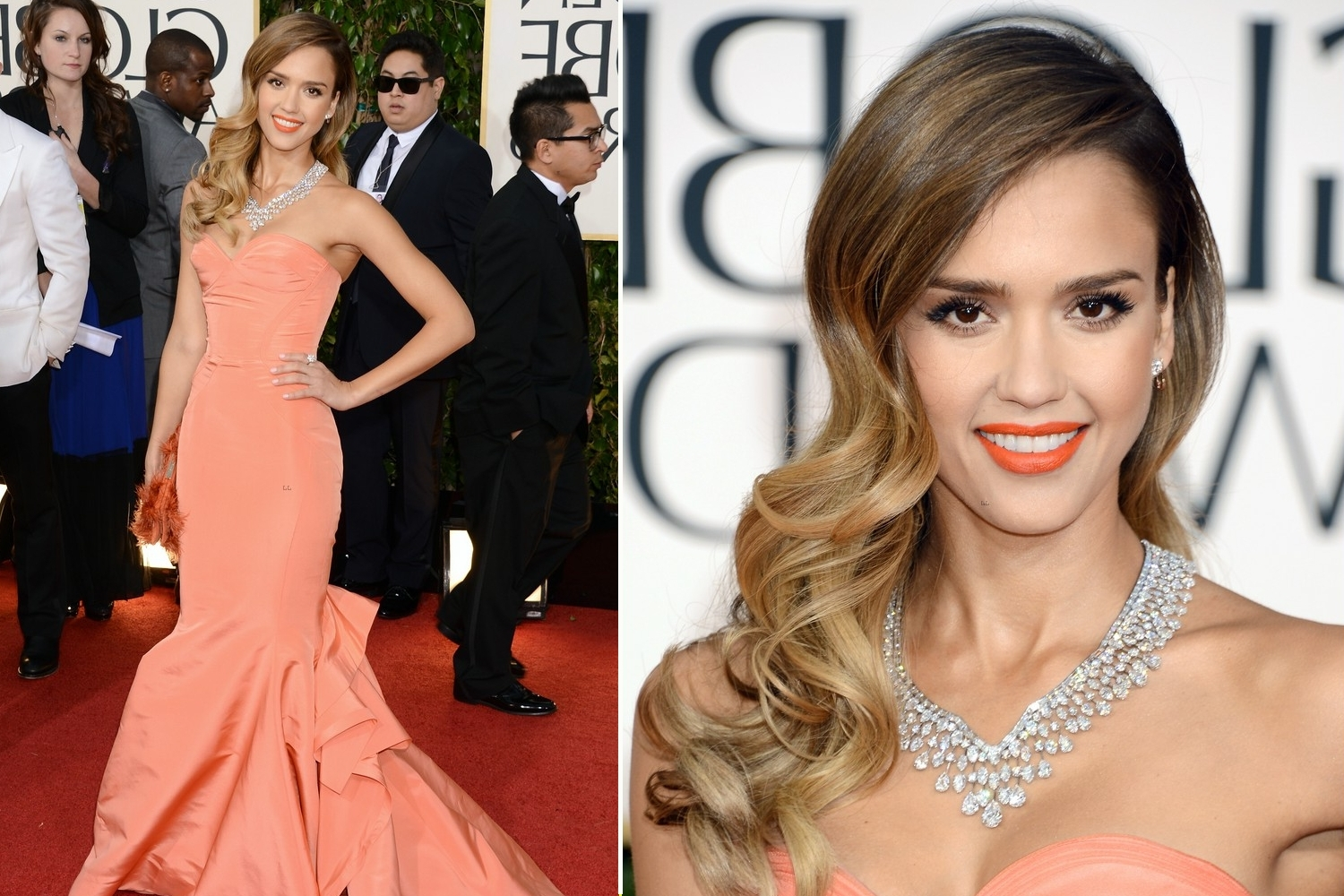 Well Known Old Hollywood Wedding Hairstyles Throughout Old Hollywood Glam Wedding Hair Jessica Alba Golden Globes (View 15 of 15)