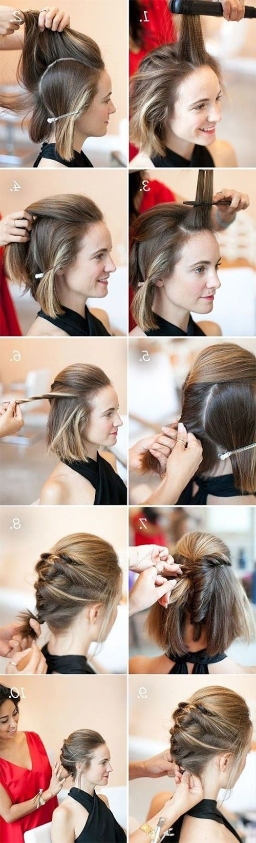 Well Known Quick Wedding Hairstyles For Short Hair With Short Hair Updos, How To Style Bobs, Lobs Tutorials (View 13 of 15)