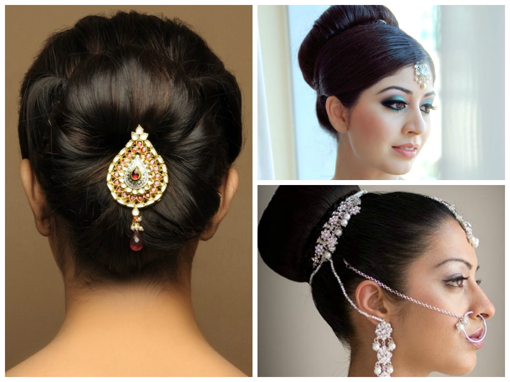 Well Known Simple Indian Bridal Hairstyles For Medium Length Hair Throughout Simple Indian Wedding Hairstyles For Medium Hair – Girly Hairstyle (View 15 of 15)