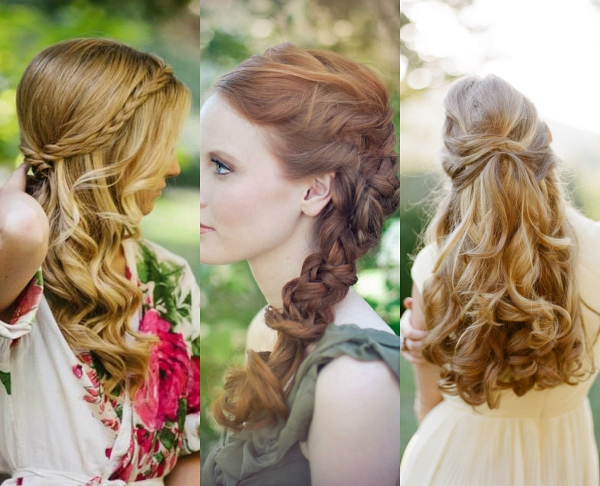 Well Known Summer Wedding Hairstyles For Bridesmaids Intended For Bridesmaids Effortless Hairstyles For Long Hair – Weddceremony (View 11 of 15)