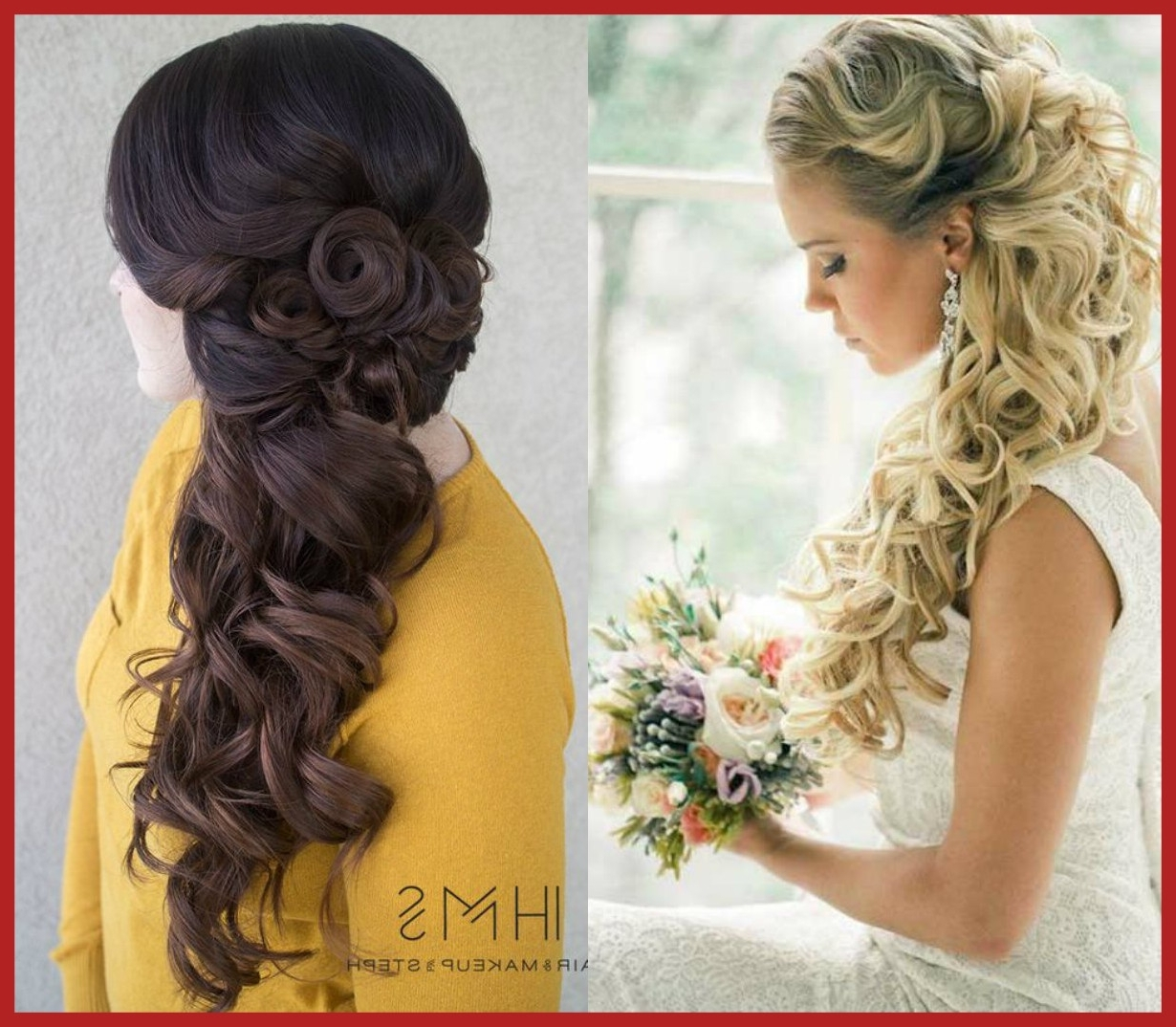 Well Known Up And Down Wedding Hairstyles Within Unbelievable Half Up Down Bridal With Veil Trend Hairstyle And Image (View 15 of 15)