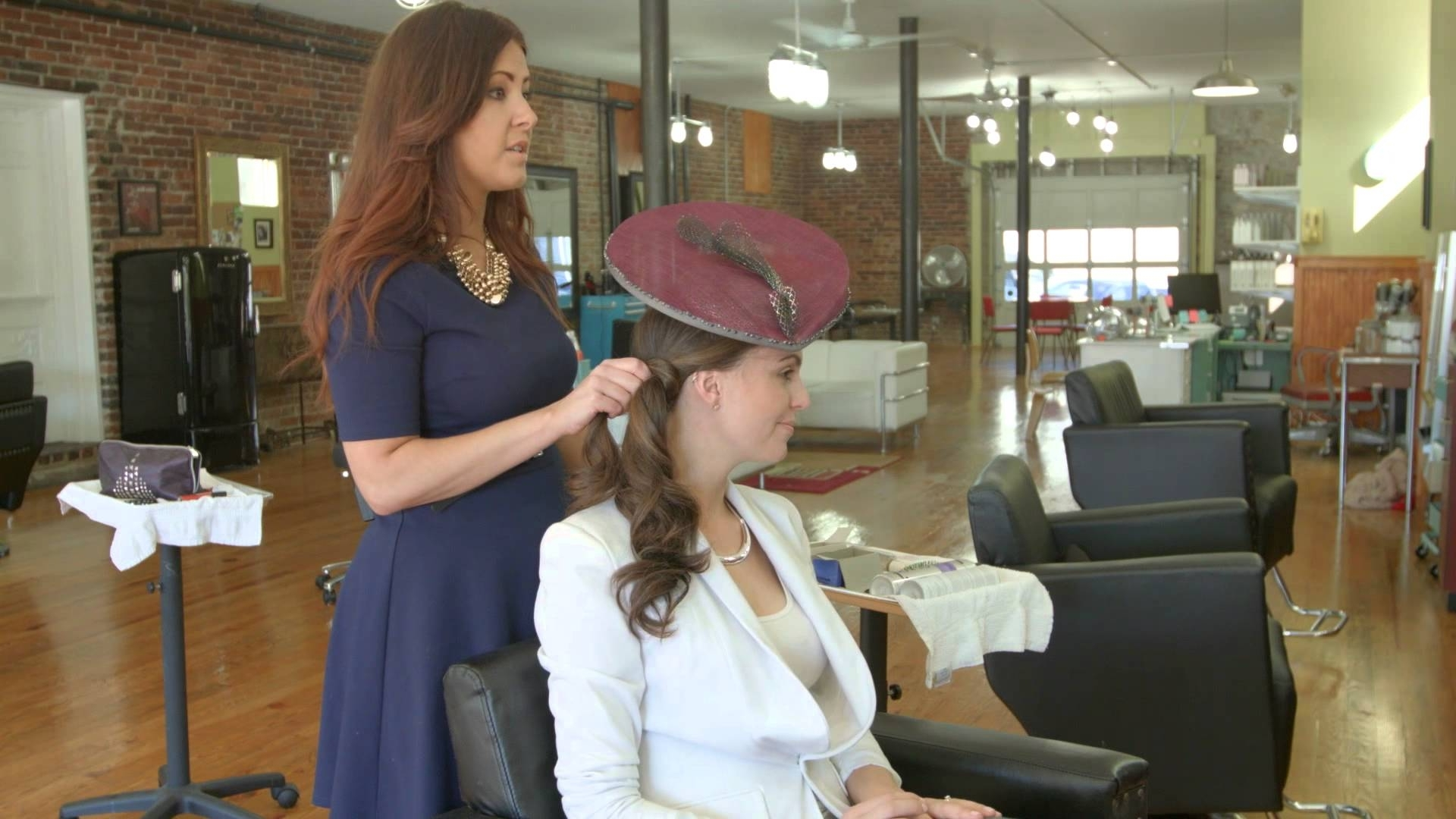 Well Known Wedding Guest Hairstyles For Long Hair With Fascinator In Hairstyles With Fascinators 2 – Youtube (View 10 of 15)