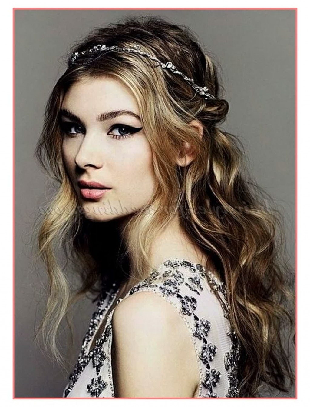 Well Known Wedding Hairstyles Down With Headband Pertaining To Brilliant Ideas Half Up Half Down Wedding Hairstyles With Headband (View 13 of 15)