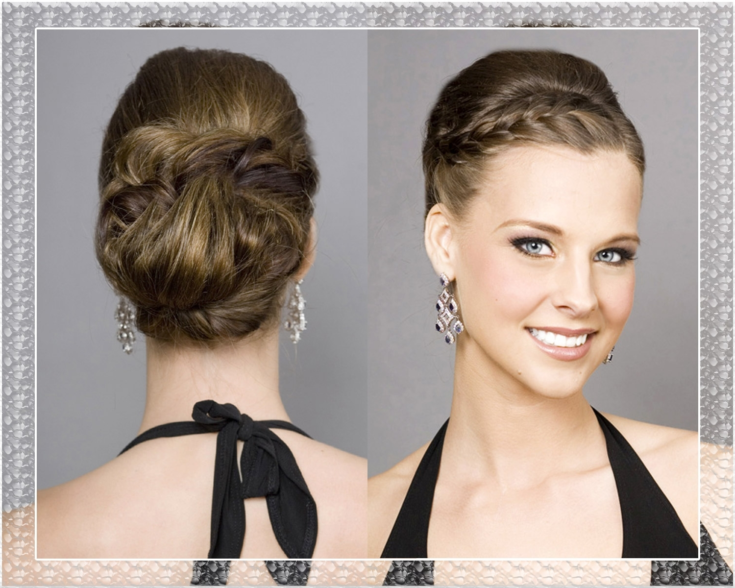 Well Known Wedding Hairstyles For Chin Length Hair With Braided Updo Wedding Hairstyles (View 6 of 15)
