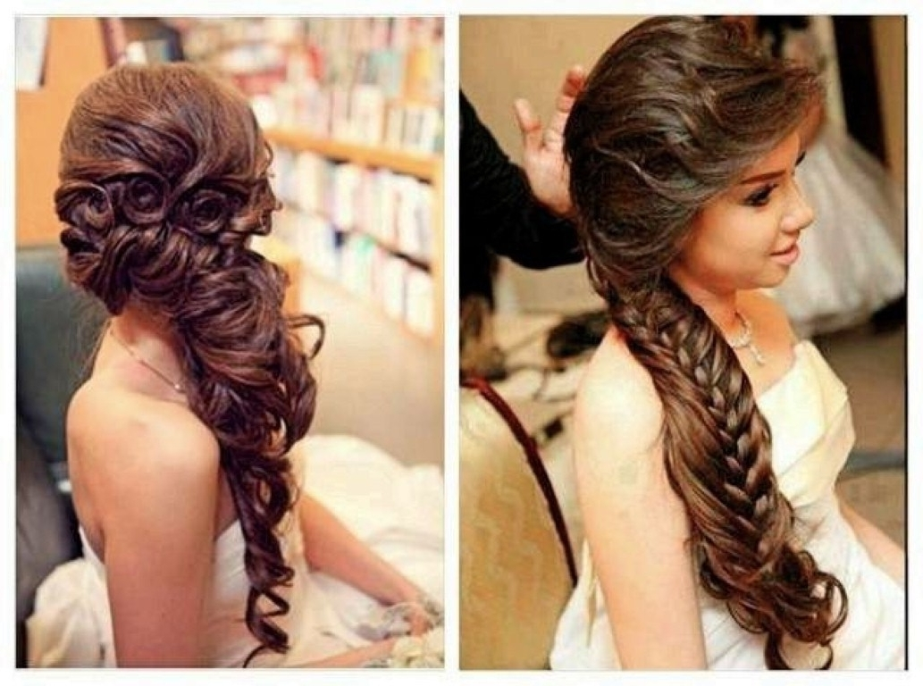 Well Known Wedding Hairstyles For Down Straight Hair For Bridesmaid Hairstyles Down Straight (View 14 of 15)
