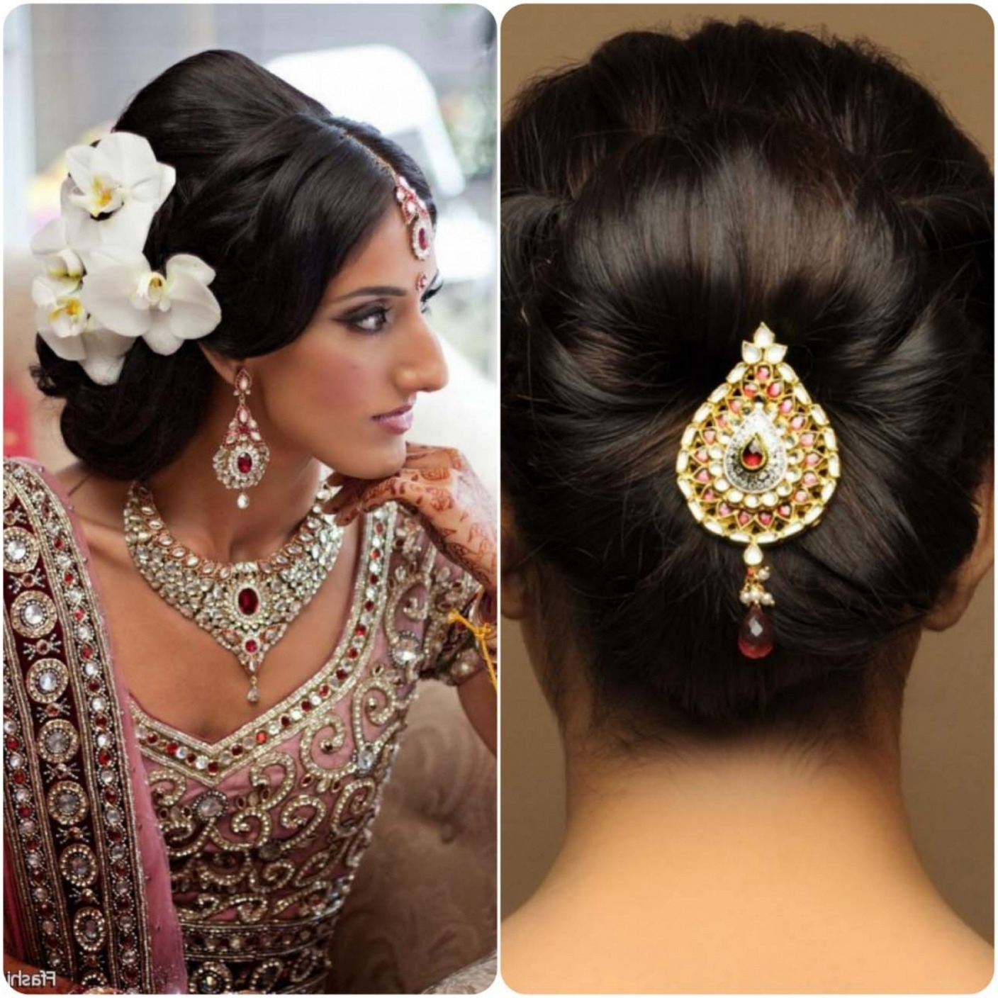 Well Known Wedding Hairstyles For Indian Bridal Regarding Inspiration Wedding Hairstyles Indian Brides With Additional Indian (View 12 of 15)