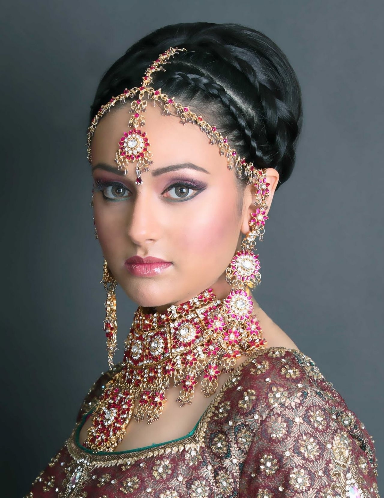 Well Known Wedding Hairstyles For Indian Bridesmaids Within Prepossessing Different Hairstyles For Indian Brides Also Indian (View 3 of 15)