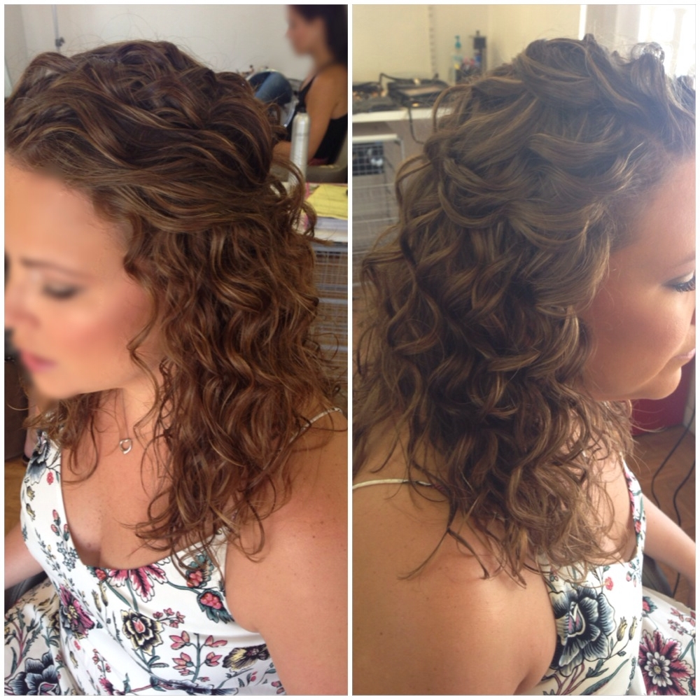 Well Known Wedding Hairstyles For Long Down Curls Hair Throughout Ideas Awfulally Curly Wedding Hairstyles Medievalal Short For Awful (View 15 of 15)