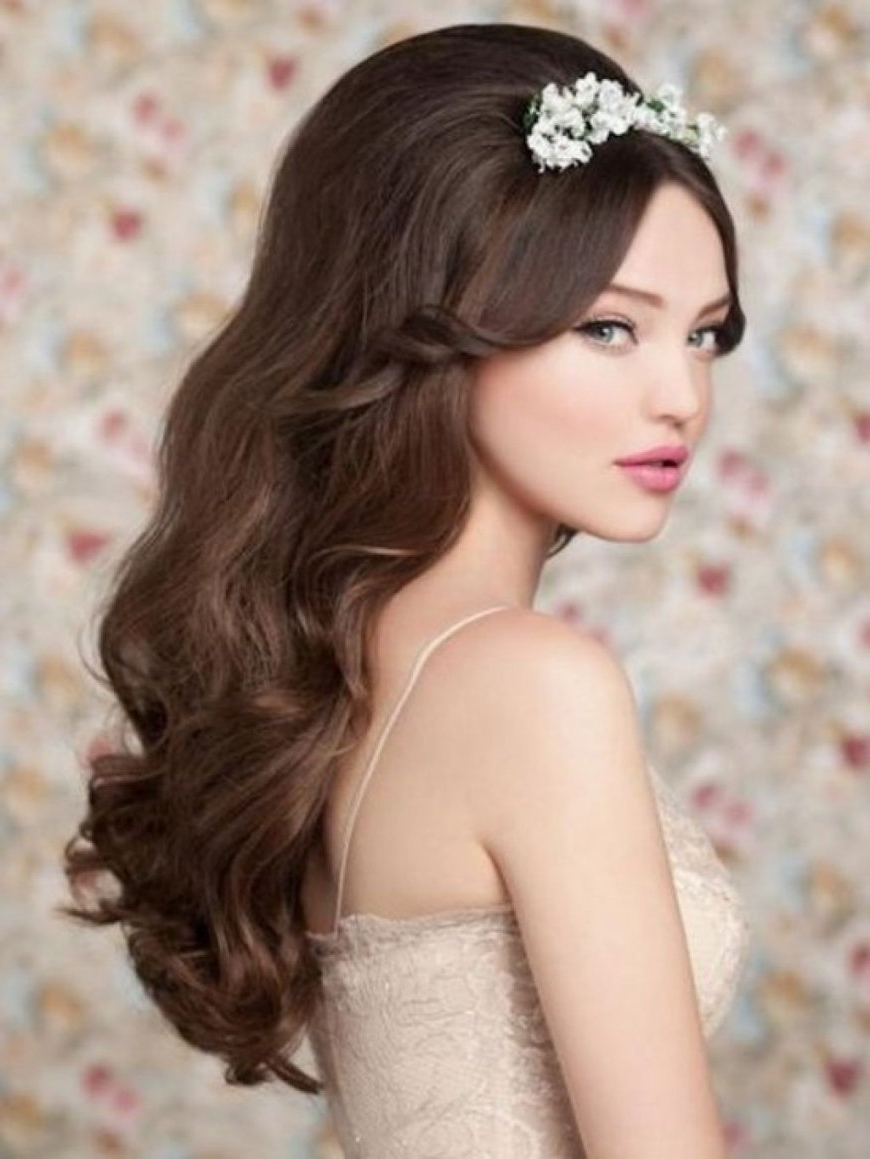 Well Known Wedding Hairstyles For Long Hair With A Tiara Intended For Wedding Hairstyles For Long Hair With Tiara — Svapop Wedding (View 15 of 15)