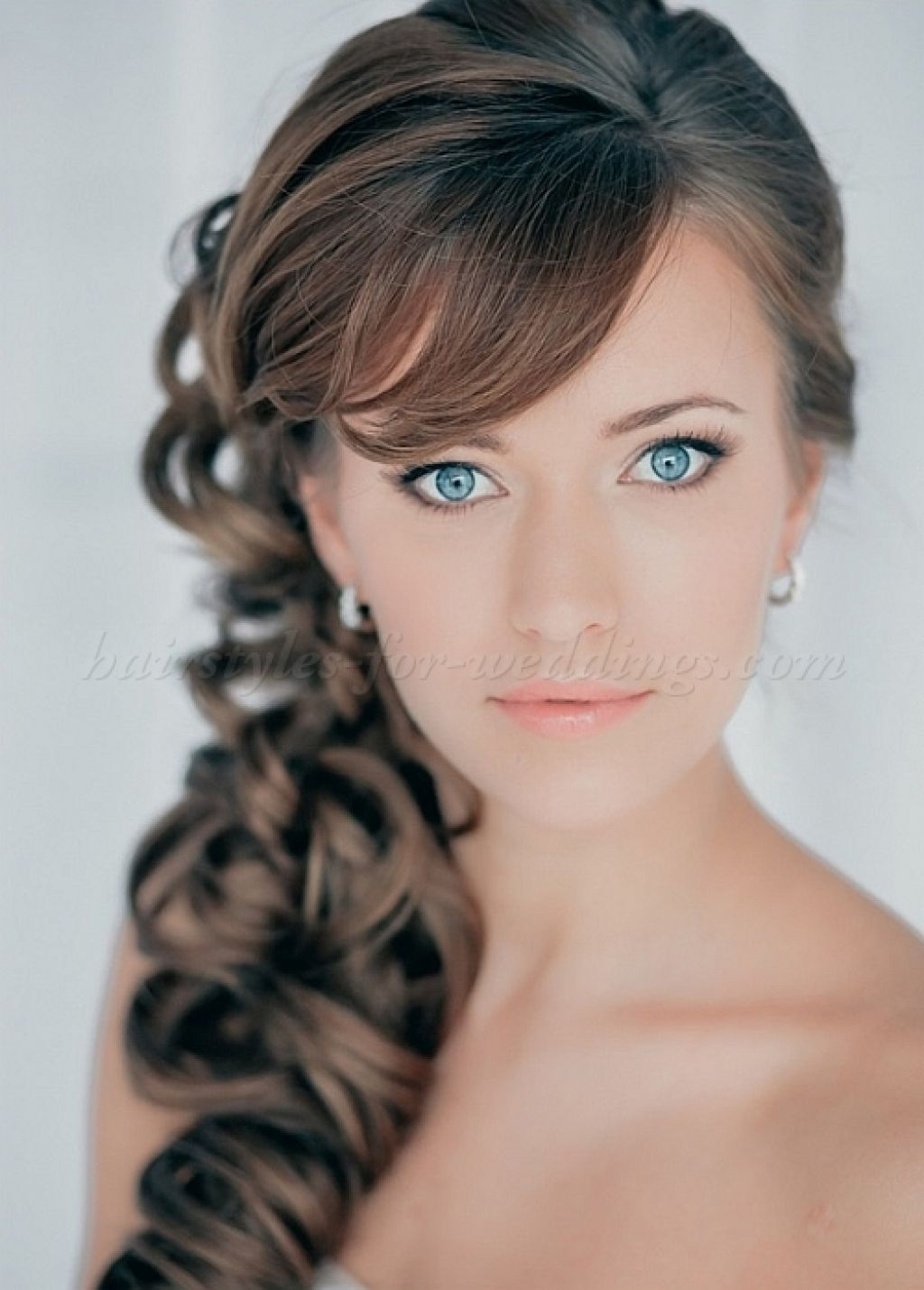 Well Known Wedding Hairstyles For Long Wavy Hair Regarding Wedding Hairstyles Ideas Side Ponytail Long Thick Wavy Hair For (View 14 of 15)