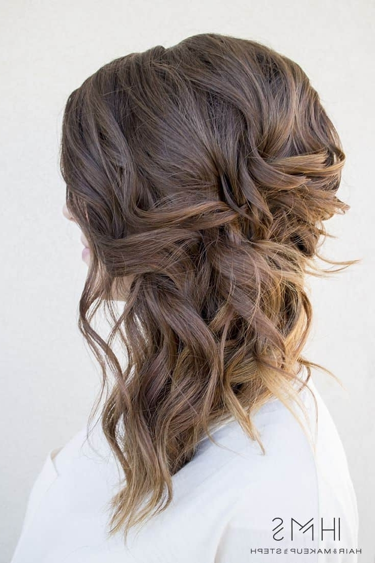 Well Known Wedding Hairstyles For Medium Length With Brown Hair For Wedding Hairstyles Medium Length Best Photos – Page 3 Of 4 – Cute (View 15 of 15)