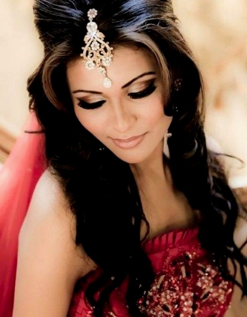 Well Known Wedding Hairstyles For Open Hair Pertaining To Bridal Hairstyles Open Hair (View 11 of 15)