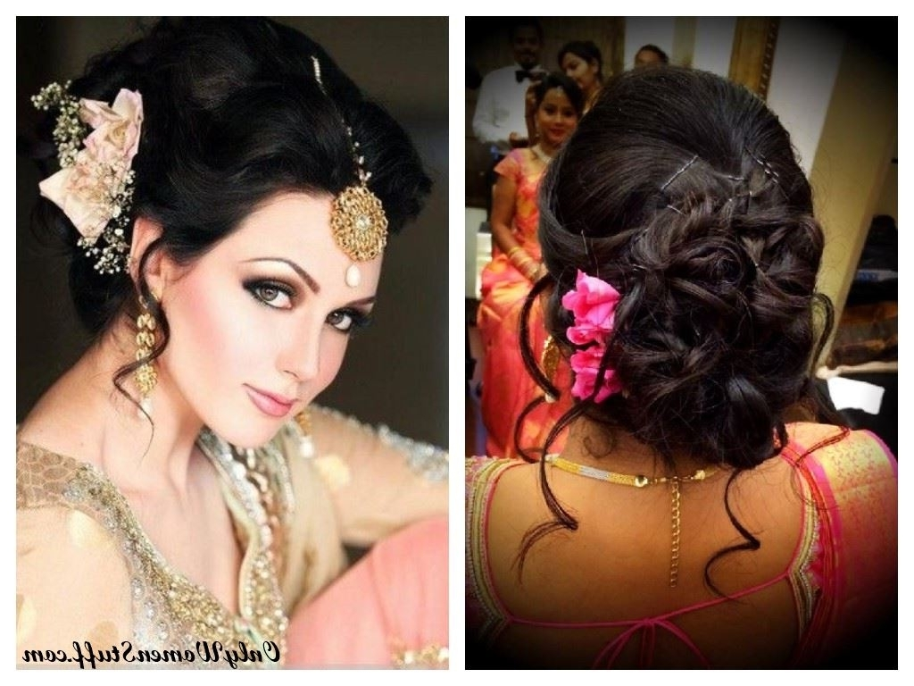 Well Known Wedding Hairstyles For Sarees Intended For 37+ Beautiful Hairstyle For Saree – Indian Traditional Hairstyles (View 13 of 15)