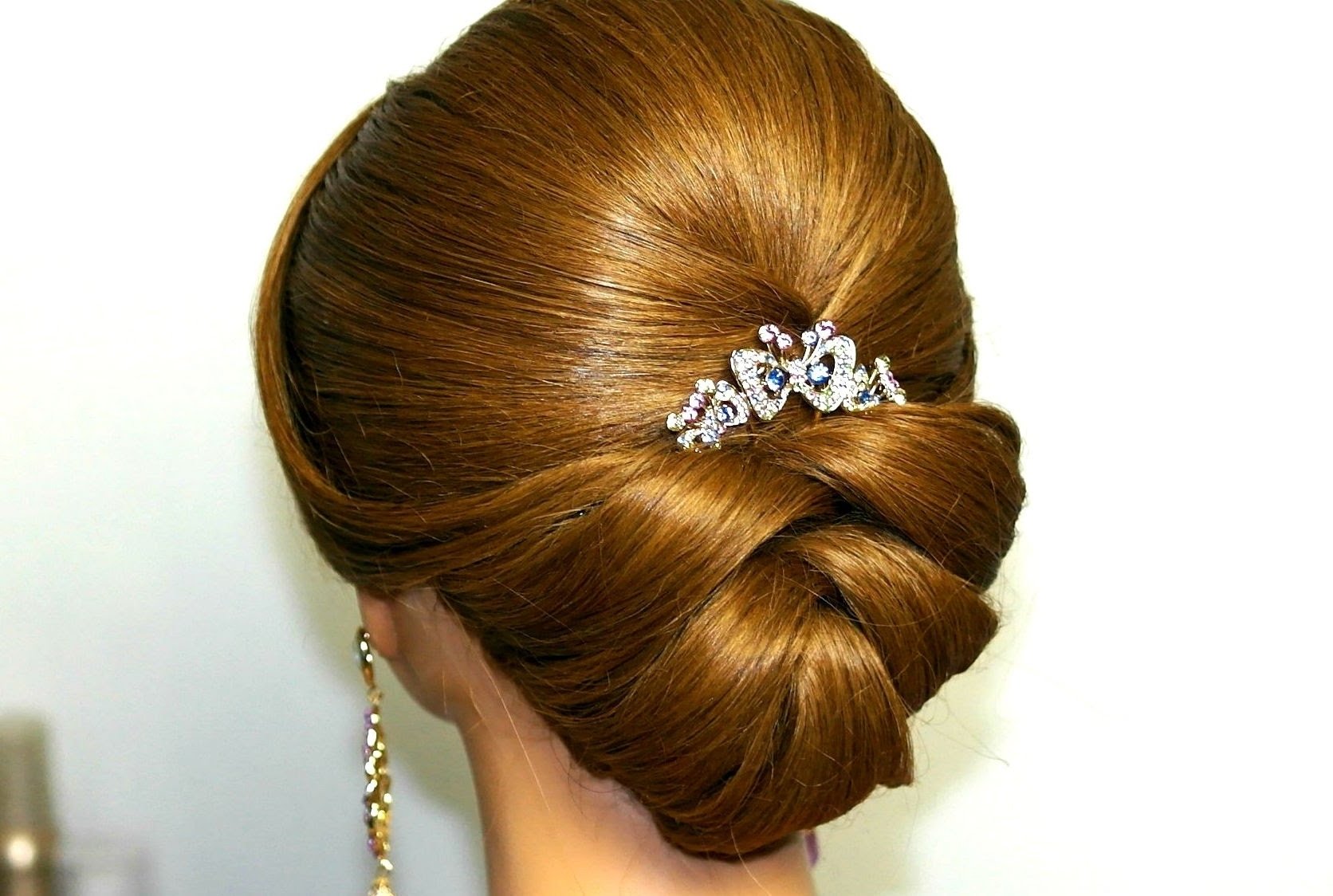 Well Known Wedding Hairstyles Pertaining To Wedding Hairstyle For Medium Long Hair. Bridal Updo – Youtube (Gallery 13 of 15)