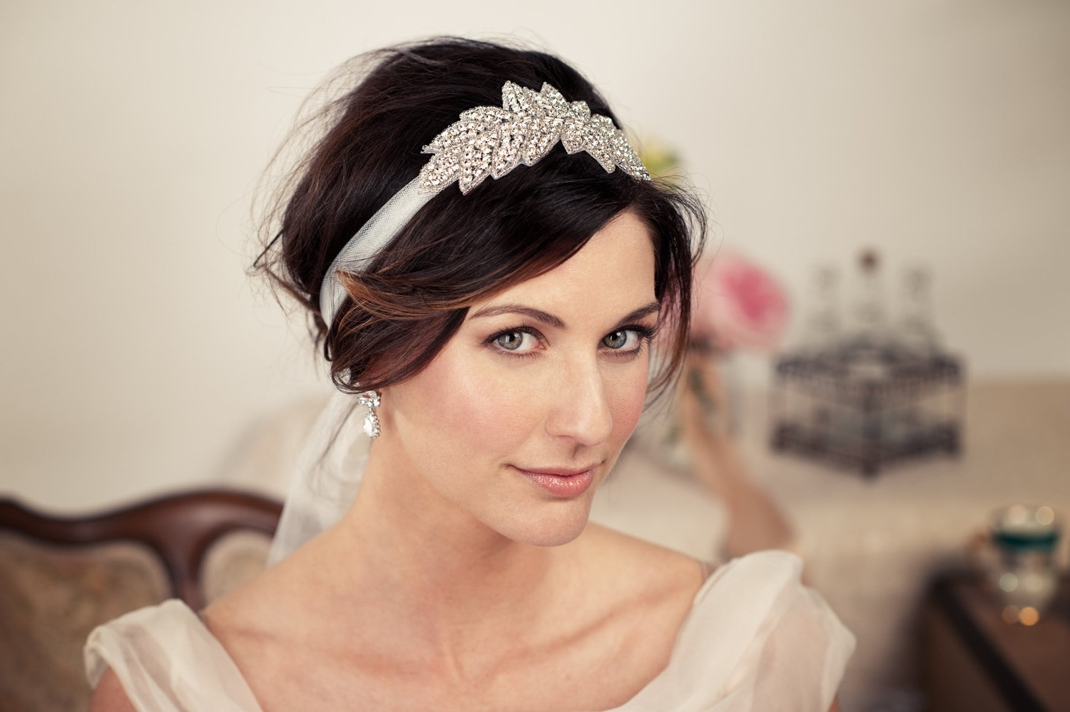 Well Known Wedding Hairstyles With Headband And Veil With Regard To Short Wedding Hairstyles With Headband – Hairstyle For Women & Man (View 2 of 15)