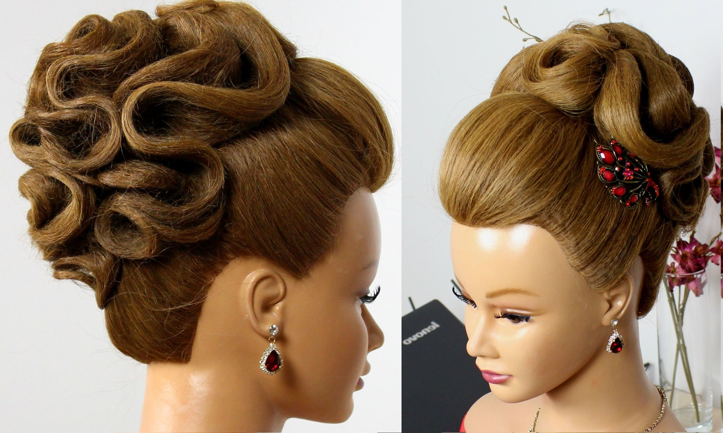Well Known Wedding Updos Hairstyles Regarding Bridal Hairstyle For Long Hair Tutorial (View 5 of 15)