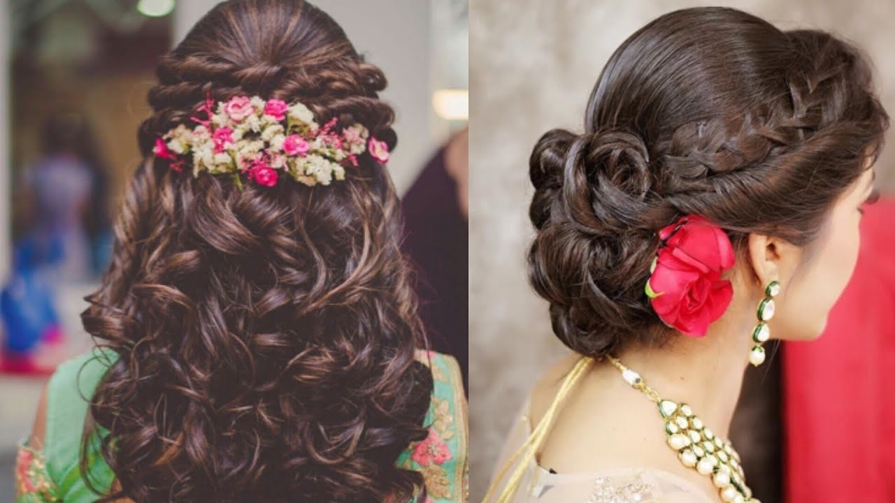Well Liked Easy Indian Wedding Hairstyles For Short Hair Within Easy Hairstyles Ideas For Indian Wedding Season/beautiful Hairstyles (View 14 of 15)