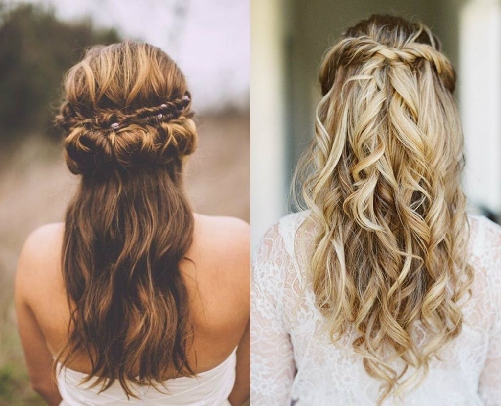 Well Liked Half Updo Wedding Hairstyles With Regard To √ 24+ Wonderful Wedding Hairstyles Half Up: Wedding Half Updo (View 8 of 15)
