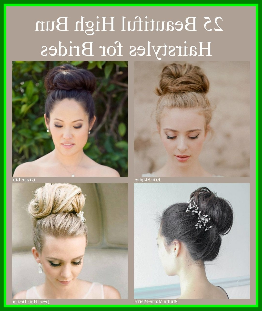 Well Liked High Bun Wedding Hairstyles Pertaining To Incredible High Bun Hairstyles For Brides Pict Of Messy Wedding (View 15 of 15)