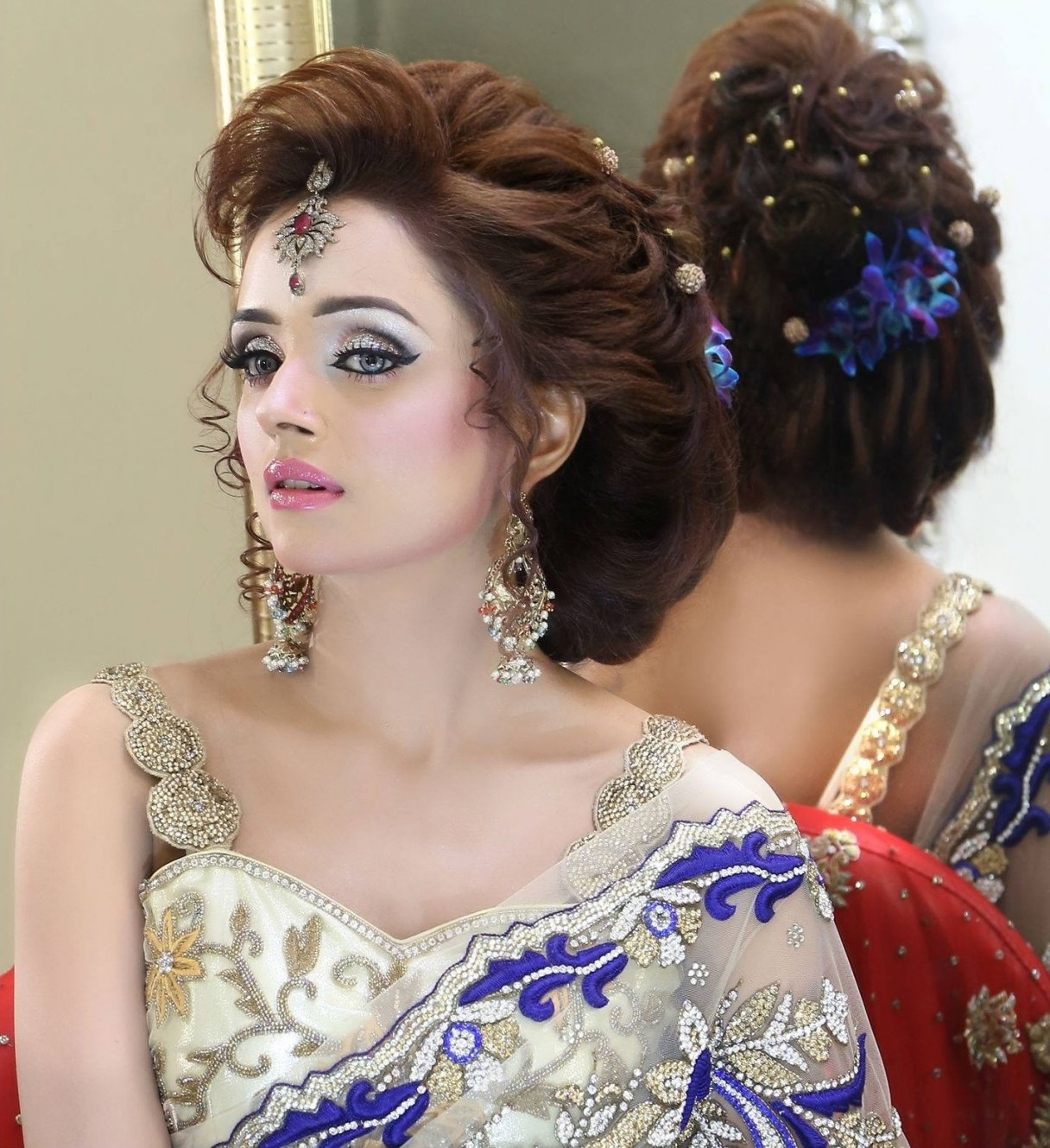 Well Liked Pakistani Wedding Hairstyles Pertaining To Pakistani Wedding Hairstyles Latest Bridal Trends For Long Hair (View 8 of 15)