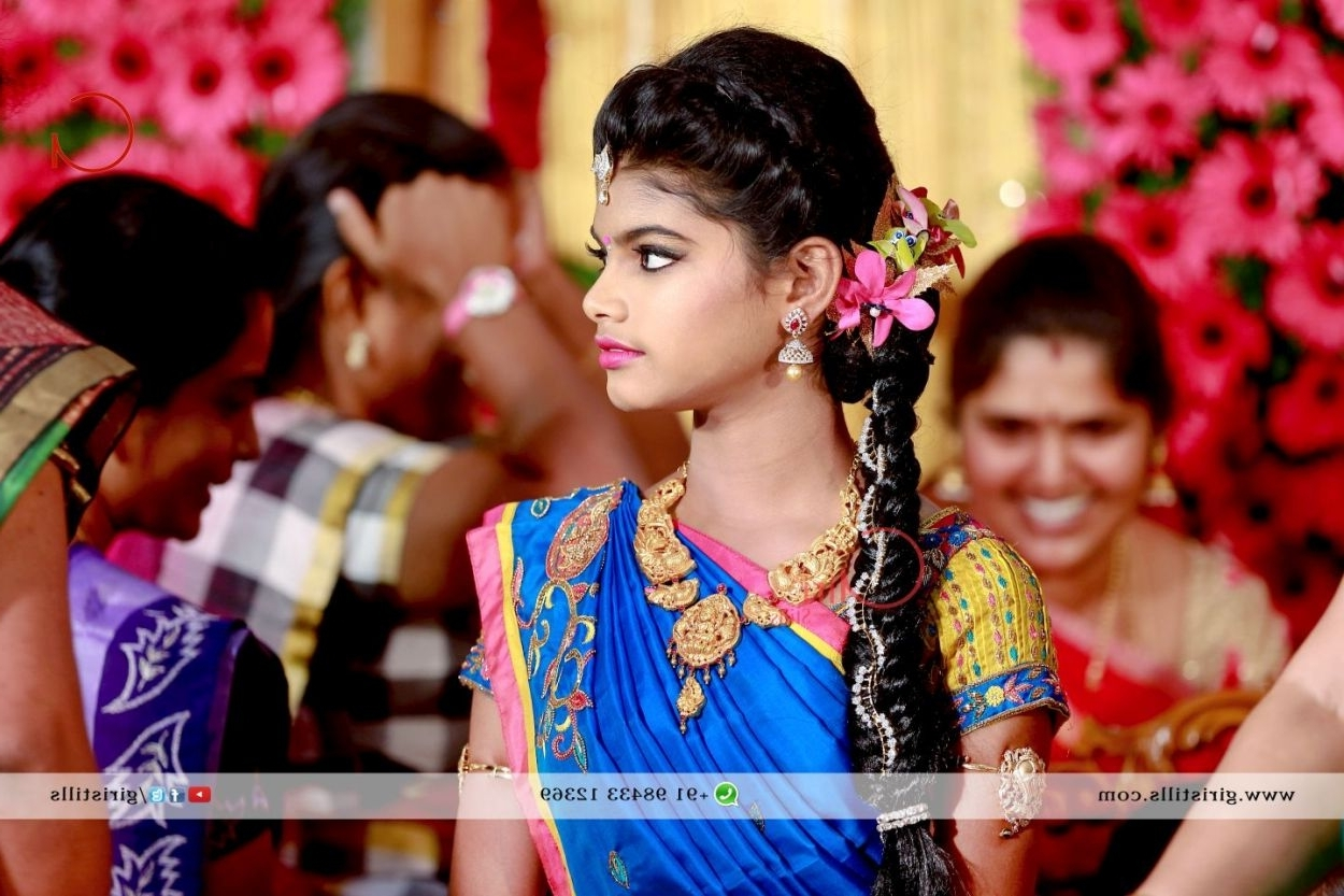 Well Liked South Indian Tamil Bridal Wedding Hairstyles With South Indian Bridal Hairstyles For Reception (View 13 of 15)