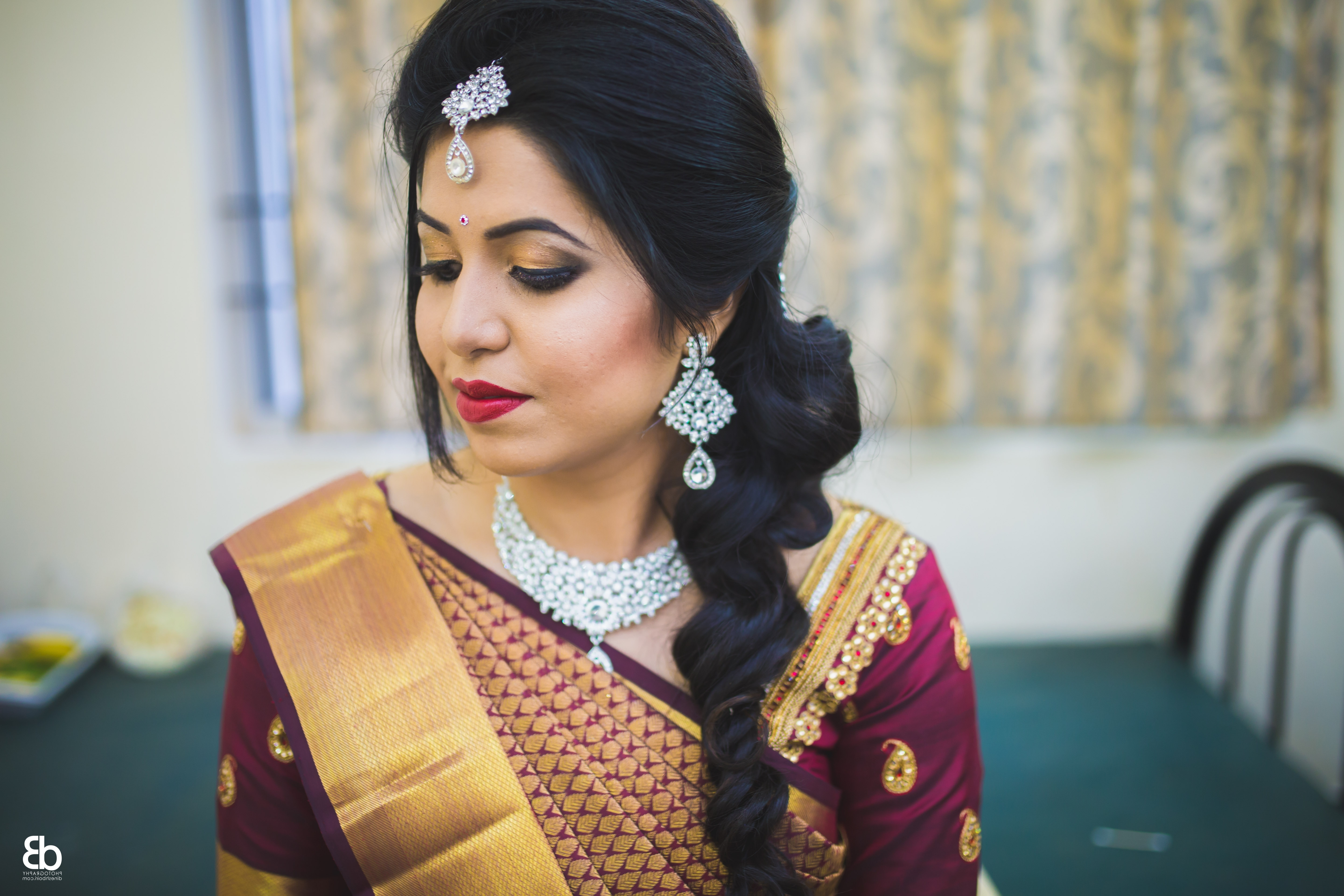 Well Liked Wedding Engagement Hairstyles Pertaining To Awesome Collection Of South Indian Bridal Hairstyle For Engagement (View 10 of 15)