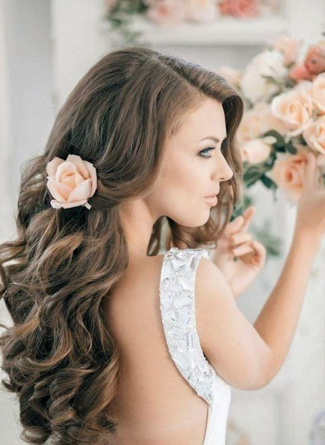 Well Liked Wedding Guest Hairstyles For Long Hair Down Regarding Picture Of Wedding Guest Hairstyles For Long Hair (View 8 of 15)